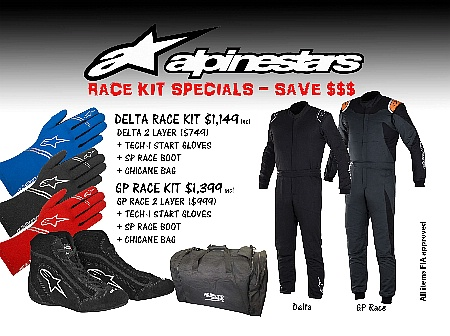 Alpinestars Delta 2 Layer Auto Racekit - Click for larger image
