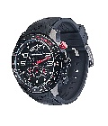 Tech Watch Black PVD Chronograph with premium Black Silicone Strap - Click for larger image
