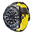 Alpinestars Tech Watch Race 3H Black/Yellow Leather Strap - Click for larger image