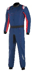 Alpinestars KMX 9 V2 Kart Suit Blue Navy Red White  - Click for larger image